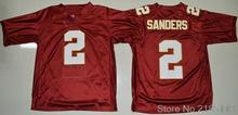 2 Deion Sanders Jersey Throwback College Jerseys Color Red White(China (Mainland))