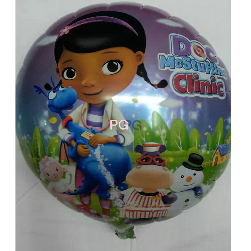 Free Shipping Arrival 5pcs / lot McStuffins Doctor Helium Balloon Kids Birthday Party Decoration Toys Children Mylar Balloons(China (Mainland))