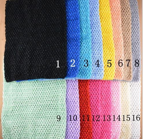 Baby Girl Waffle Crochet Headbands Young Girl Elastic Chest Wrap Rayon Crochet Tutu Tube Tops L24*32cm12inch 20Color10pcs/lot(China (Mainland))