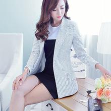 Women Blazer Ladies Fashion Blazers Ms. Dot Printing Long-sleeved Small Suit 3 Colors (s-xxl) Jacket Blazer Feminino