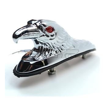 LPL-021-CR-CR Chrome Eagle Head Ornament Statue For Motorcycle motorbike ATV Front Fender Frames & Fittings Car Bonnet