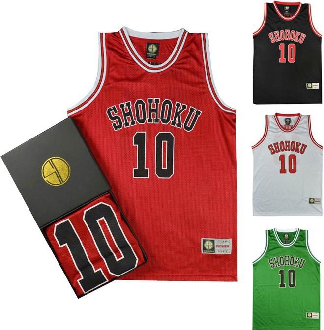 Classic Comic SLAM DUNK Shohoku Number 10 Sakuragi Basketball Jersey Without Original Box Retro - EachDayMall store