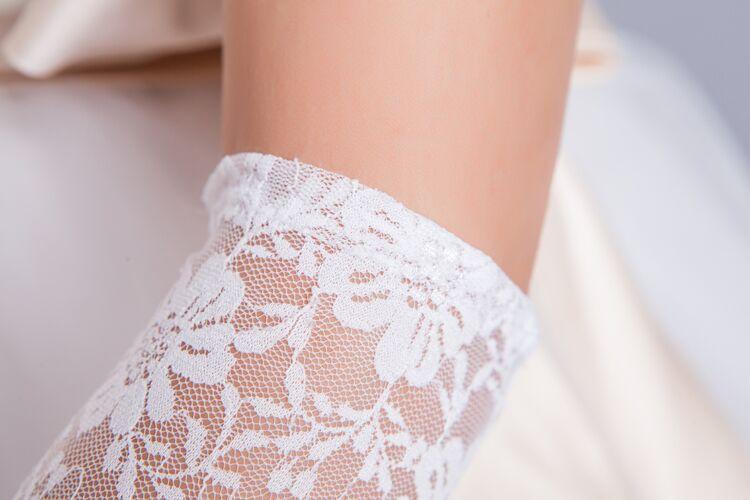 2015 LongLace Bridal Gloves White Black Red Wedding Accessories luva de noiva - Ushine & Prom Dresses Factory store