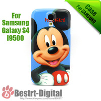 1Pcs Only, Mickey Mouse, Plastic Back Skin Cover Case for Samsung Galaxy S4 i9500, For Samsung Galaxy S4 Case