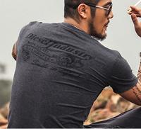 summer Men V neck print T shirts brand tee cotton clothes new Men short sleeve tshirt