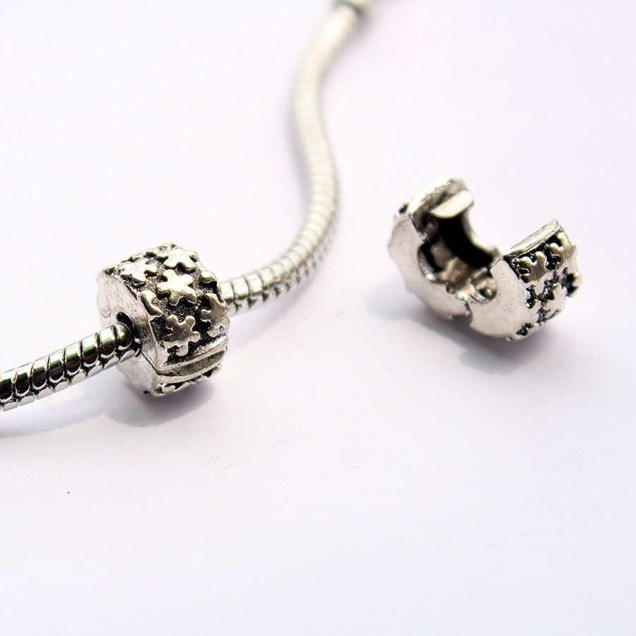 1pcs freeshipping 925 silver plate flower safety stopper