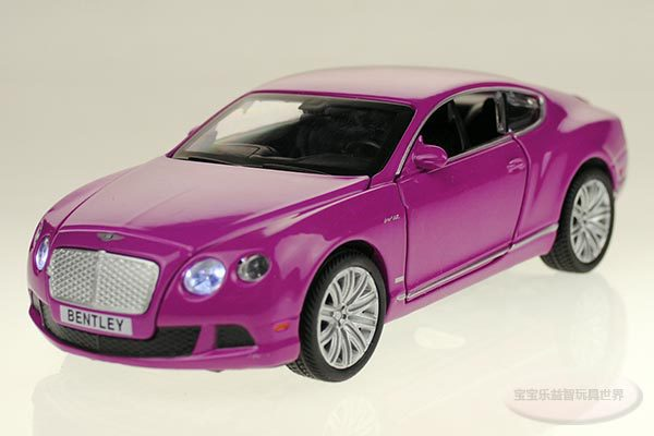 NEW 2015 Free shipping 1:32 Bentley Supersports ISR Diecast Car Model Vehicle Toy collection Sound&Light Purple B2310(China (Mainland))