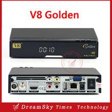 High quality openbox v8 golden+1pcs wifi dvb-s2+c+t2 IPTV,Youtube,Youporn,Redtube iptv PowerVu Biss key satellite receiver