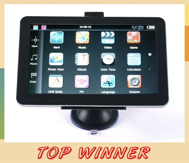 "New arrival! - 5"" inch HD Car GPS navigation system+Built-in 4gb,128Ram,Preload maps MP3/MP4,FM Transmitter"
