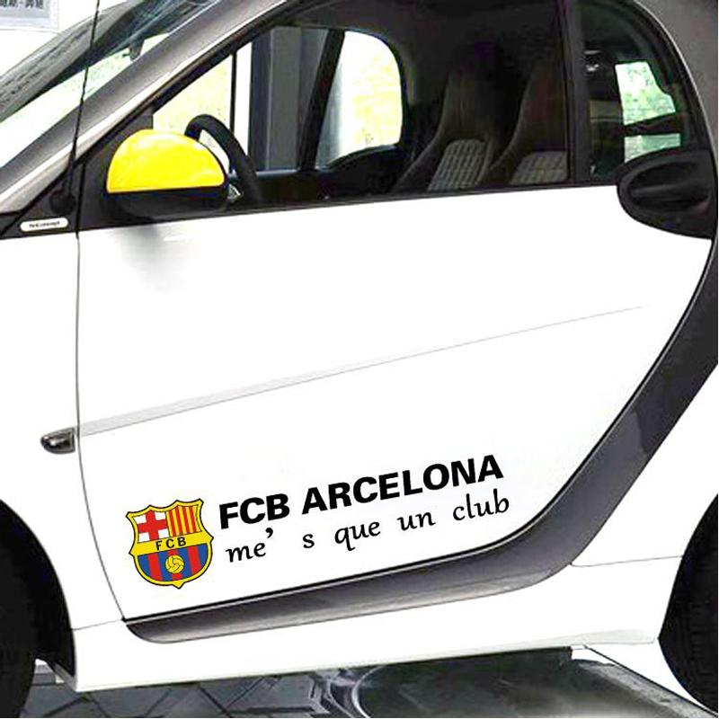 Hot 60 * 14cm Car styling Car Stickers Euro-Premium fc Barcelona Logo for Cars Acessories Decoration, Car Cover S-874(China (Mainland))