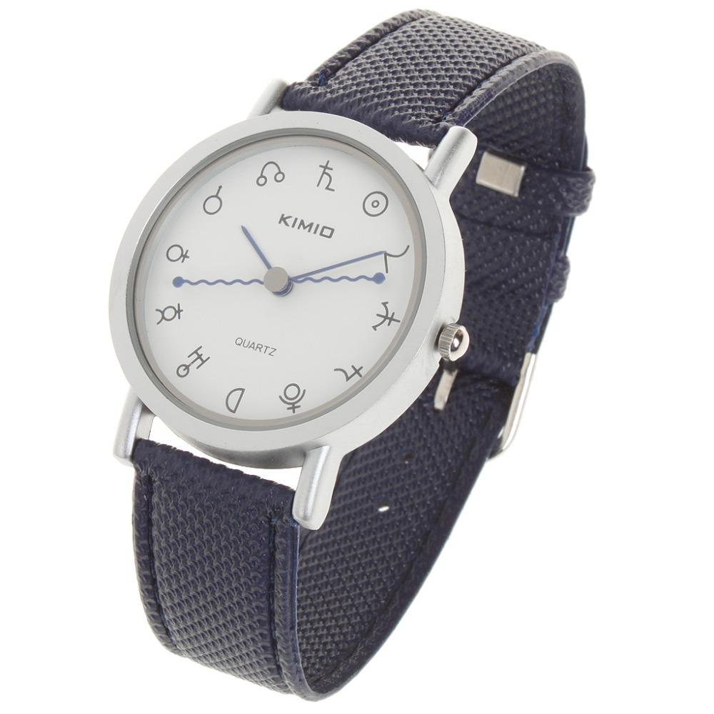 free shipping Latest KIMIO Quartz fashion watch Dark blue Exquisite gift leisure waterproof men's watch(China (Mainland))