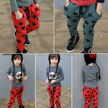low price 0806Fashion Toddler Boys Cotton Long Pants Stars Pattern Trousers Casual Bottoms Hot(China (Mainland))