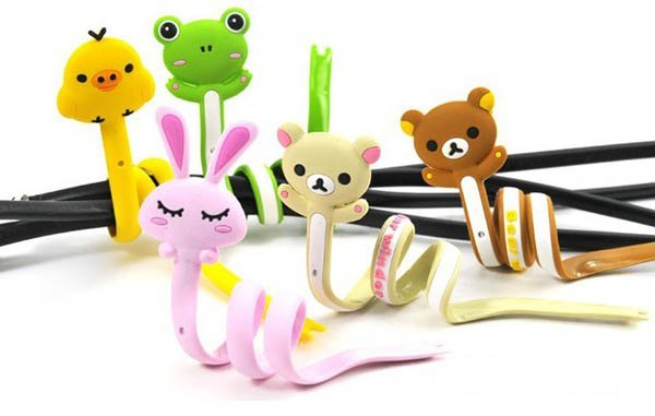 100pcs Animal Bobbin Winder Computer Wiring Harness Cable Twister Chargers MP3 MP4 Wire Ties Cable Management Tool Free shipping