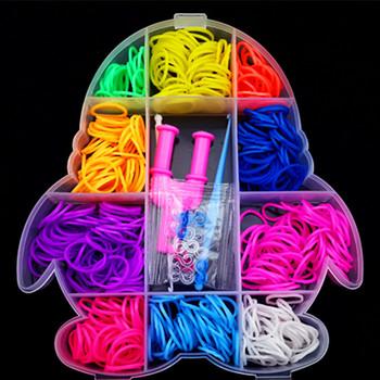 500 шт. DIY комплект резинки для браслетов силиконовые резинки браслеты оптовая продажа фабрики резинка для плетения браслетов резинки для плетения