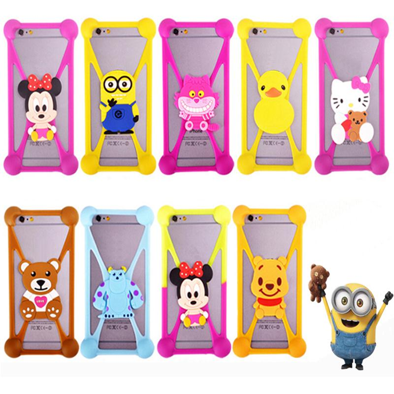 Cute Cartoon Silicone Universal Cell Phone Holster Cases Fundas For Blackberry Z30 Case Silicon Coque Cover(China (Mainland))