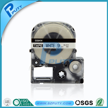 9mm black on white tepra label tape SS9KW for KINGJIM printer TepraPro SR530C