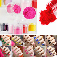 Nail Art Velvet Flocking Powder Decoration DIY Tips For UV Gel Polish 24 Colors