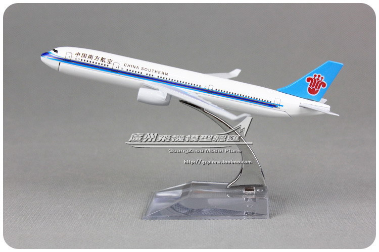 16cm Alloy Metal Air China Southern Airlines Plane Model Airbus 330 A330 Airways Aircraft Airplane Model W Stand Toy Gift(China (Mainland))