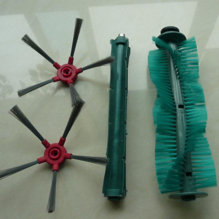 Robot vacuum cleaner SQ-A360 side brush 2pc+rubber brush 1pc+bristle brush 1pc
