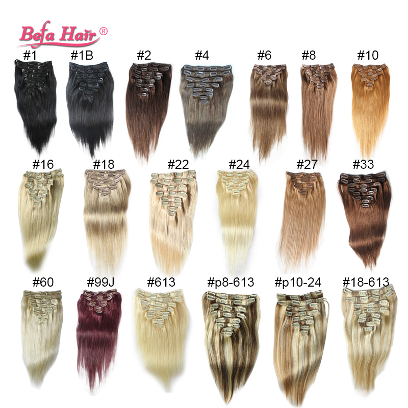 high grade 6A 16-24in 120g Clip in Hair Extensions human Clip In straight hair Extension Straight Hair no tangle,no shedding<br><br>Aliexpress