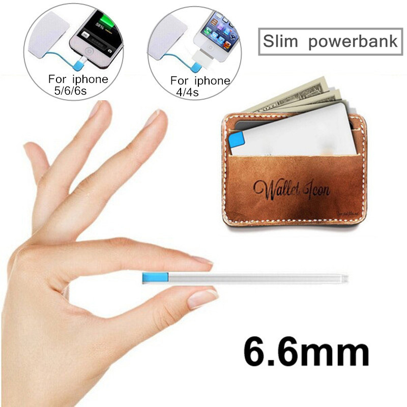Ultra Thin Powerbank 2600mAh Portable Charger Backup External Battery Mobile Power Bank For xiaomi iPhone 4/4s 5 5s 6/6s 6+(China (Mainland))