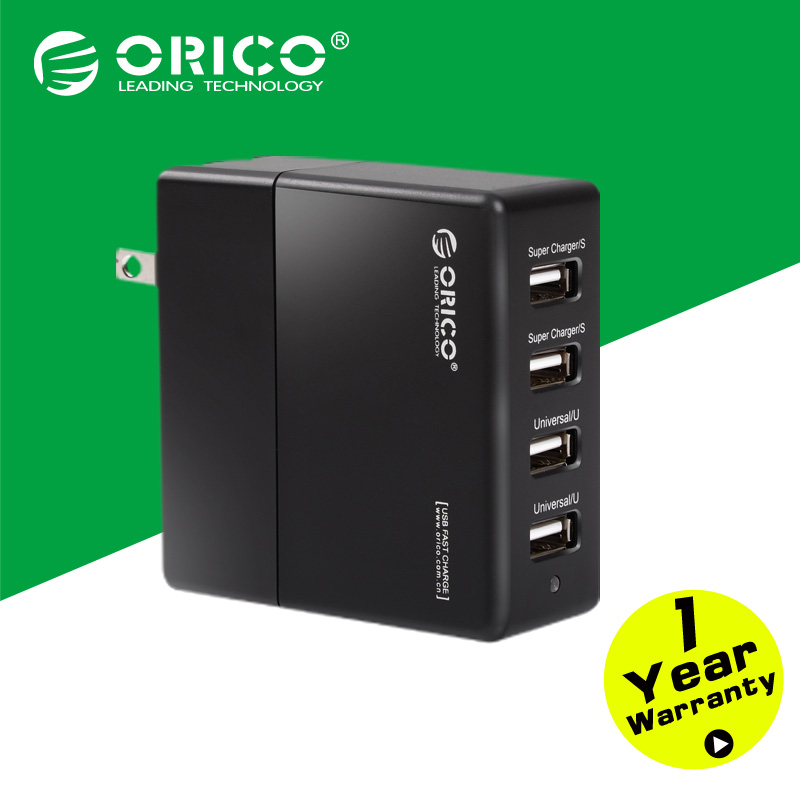ORICO DCK-4U-BK Black 4 port USB Portable Wall Charger FOR Cell Phone/Tablet PC with CE/FCC/3C/ROHS(China (Mainland))