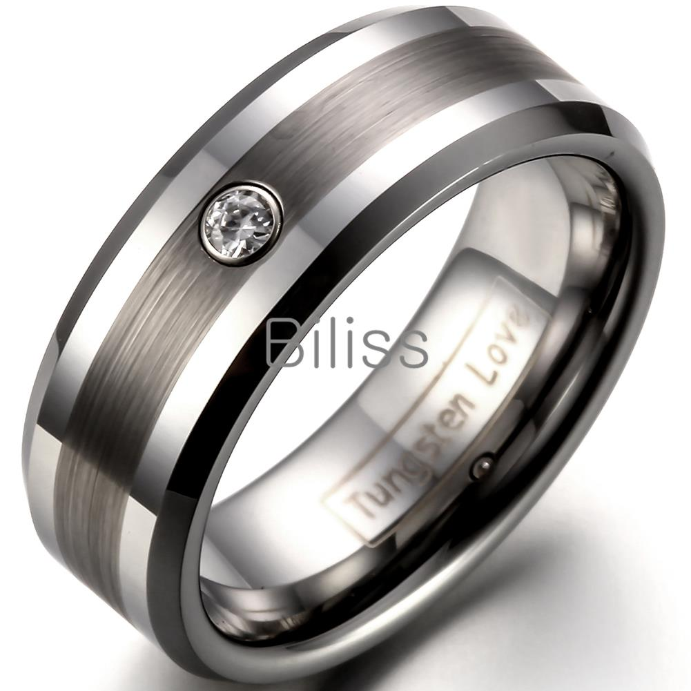 8mm comfort fit tungsten carbide ring for wedding