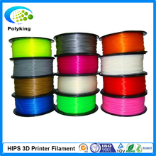 Wholesale 3D Printer Filament HIPS 1.75mm/3mm 1kg Consumables Material For MakerBot/RepRap/UP/Mendel/Ultimaker/Makergear
