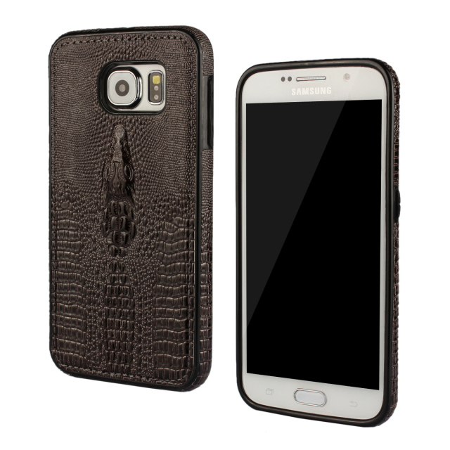 S6 Luxury PU Leather Case For Samsung galaxy S6 Bumper Crocodile Pattern Back Capa Cover For Samsung S6(China (Mainland))