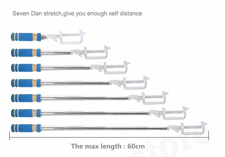 image for Universal Extendable Selfie Sticks Handheld Self-Pole Tripod Monopod S