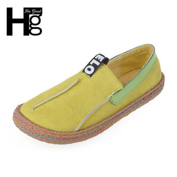 HEE GRAND Plus Size 36-42 Women Loafers Shoes Round Toe Casual Pattern Lady Flats Wide Shallow Slip-on Shoes XWD4629