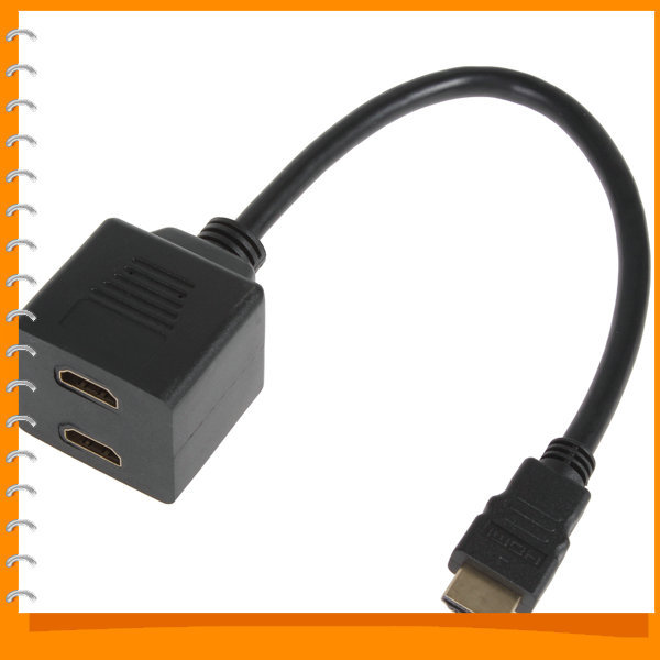 USB Cable HDMI Male to HDMI Female Audio Video Spliter Adapter for Wii / HDTV / DVD / PS3 / PSP(China (Mainland))