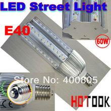 Mazorca LED Street Lamp E40 60W LED Road Bulb light  85-256V 60 LEDS 220v outdoor Lightiing warranty 2 years CE & RoHS x 2pcs(China (Mainland))