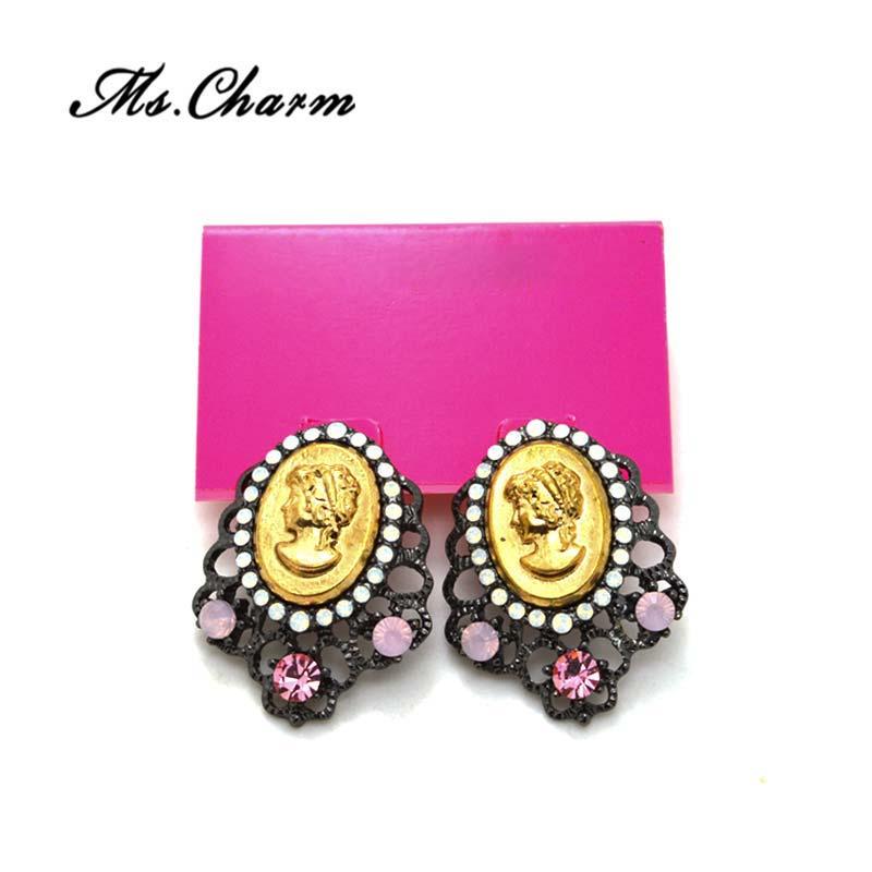 Beautiful Popular Vintage Stud Earrings For Women Gold