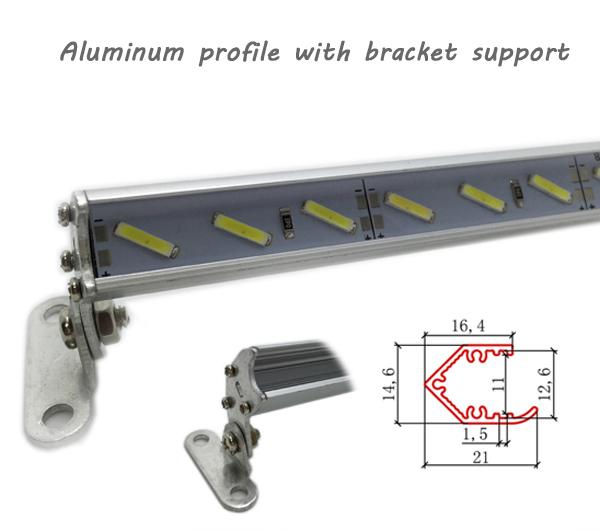 Sales promotion V type corner  LED profile led aluminium profile with mirror reflector for led bar light trible brightness<br><br>Aliexpress