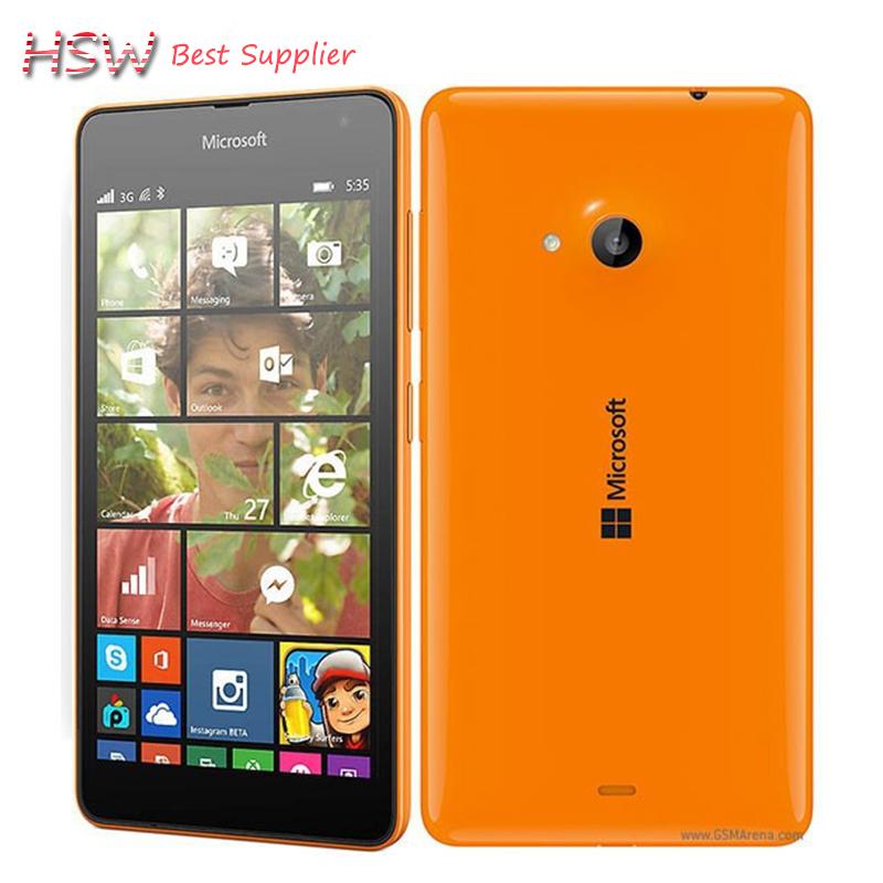 "100% Original Nokia Lumia 535 Cell Phones Windows Phone 8.1 5.0"" Touch Screen Quad Core Dual SIM 8GB Storage 5MP Camera Wifi GPS(China (Mainland))"