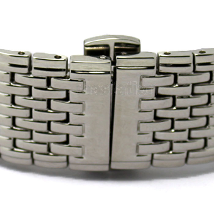 20mm Silver Unisex Thick Mesh Steel WatchBand Strap Bracelet Butterfly Buckle Silver GD013120(China (Mainland))
