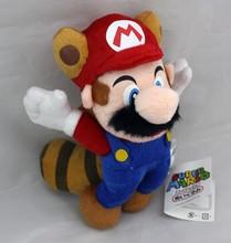 "Super Mario Series 8"" Flying Raccoon Tanooki Mario Soft Stuffed Plush Doll Toy(China (Mainland))"