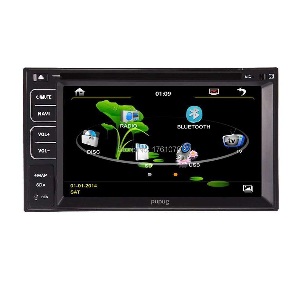 6.2-Inch Double-DIN TFT Touchscreen Car DVD Player VCD/CD/MP3/MP4/CD-R/USB/SD-Card USB Slot/AM/FM/iPod Connector and Bluetooth(China (Mainland))