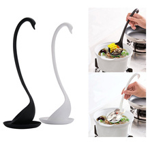 Fetoo 1 set natural eco-friendly PP log  Ladle and Small dish kitchen supplies tableware white and black P35(China (Mainland))