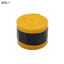 1.1M Absorb Sweat Band Pack Hand Gel Non-slip Tape Stretchy Tennis Badminton Bicycle Handle Tape Fishing Accessories Yellow(China (Mainland))