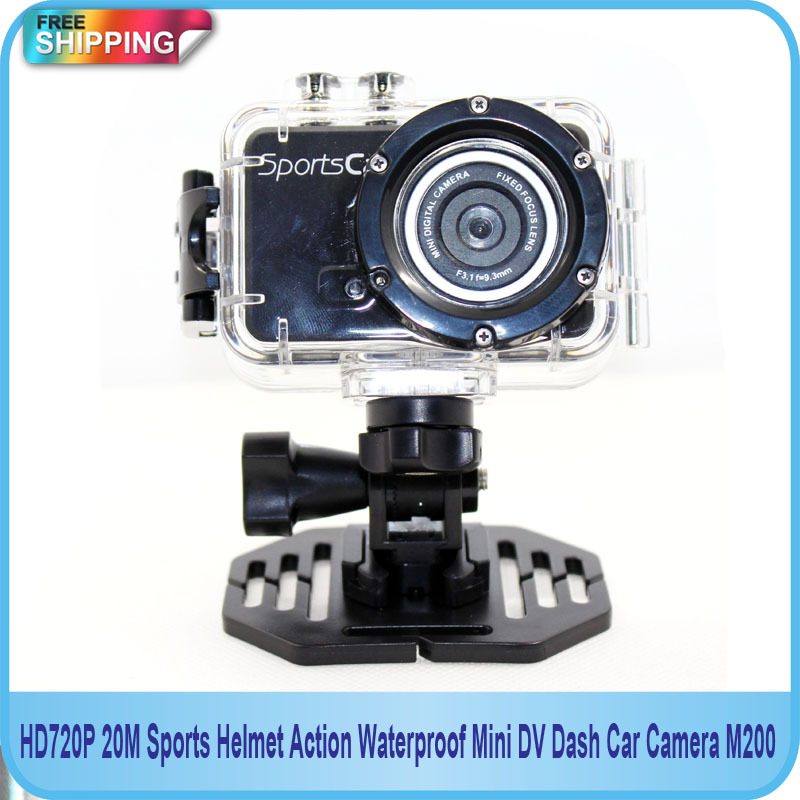 Free shipping!! HD 720P 20M Sports Action Helmet Mini Digital DVR Camera Waterproof M200 <br><br>Aliexpress