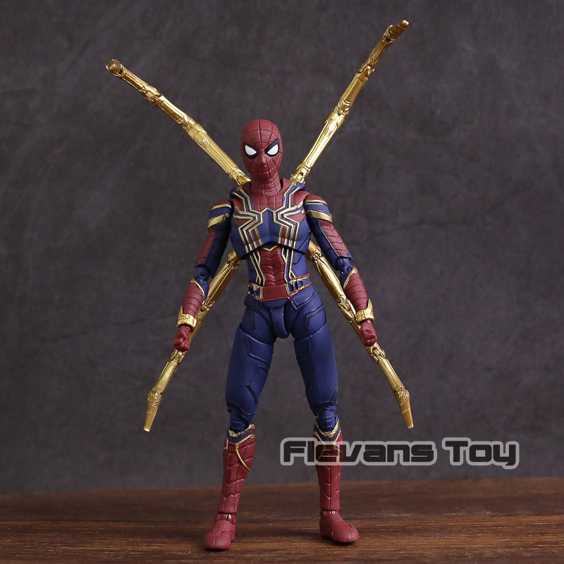 """Marvel Avengers 3 Infinity War Iron Spider Spider-Man 7/"""" Action Figure Toy Gift"""