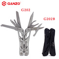 Quality Brand GANZO Multi Tool G202B Plier Stainless 440C Tungsten Alloy 22in1 Black Multitools Knife Camping