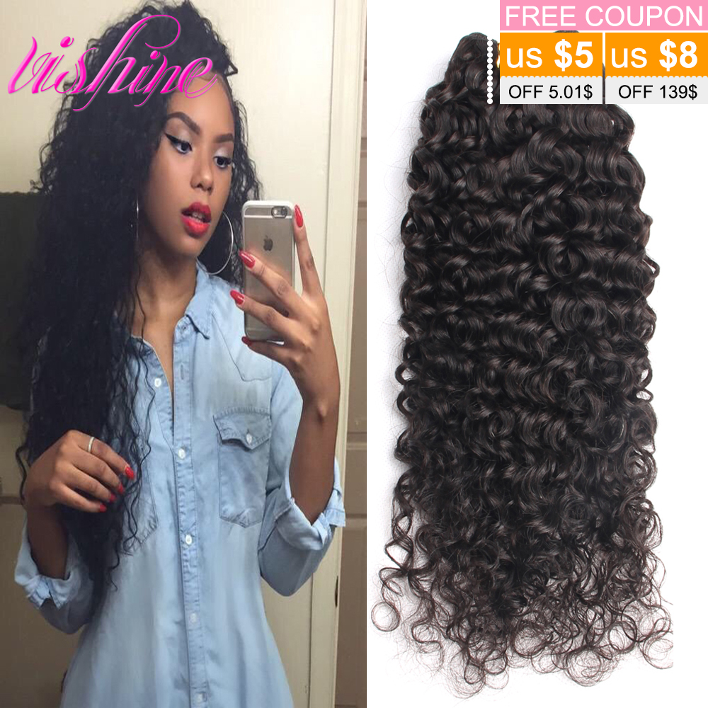Indian Deep Curly Virgin Hair Remy Long Curly Hair Weave 3 Bundles Raw Indian Virgin Hair Curly 100% Human Hair Extensions(China (Mainland))