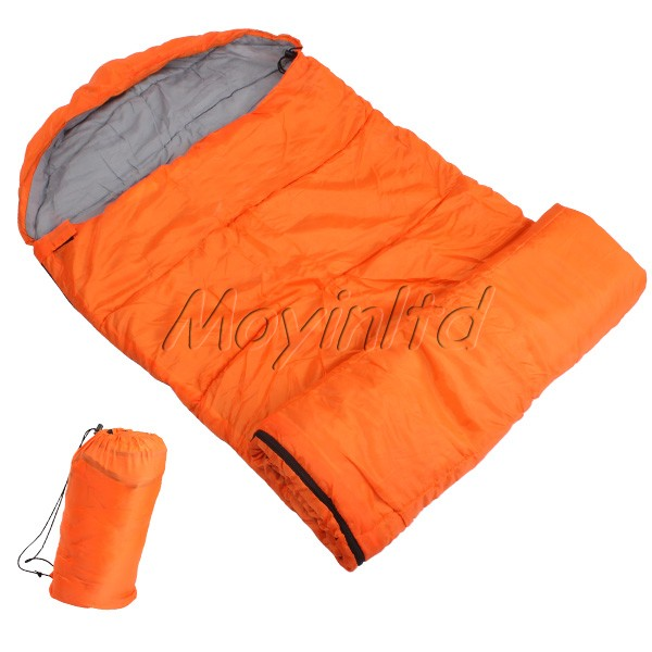 Orange Autumn Outdoor Folding Sleeping Bag Comfortable for Camping Hiking(China (Mainland))