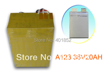 free shipping 36V20AH A123-20AH 12S1P(720Wh) lifepo4 battery pack for Scooter replace lead-acid battery