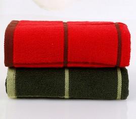 Free shipping new 2014 high-grade cotton plaid jacquard towel, super absorbent, environmentally friendly towel(China (Mainland))