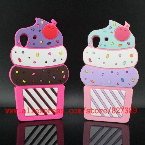For HTC Desire 626 Case Cover 3D Silicone Cartoon Cupcakes Ice Cream Cell Phone Cases For HTC Desire(China (Mainland))