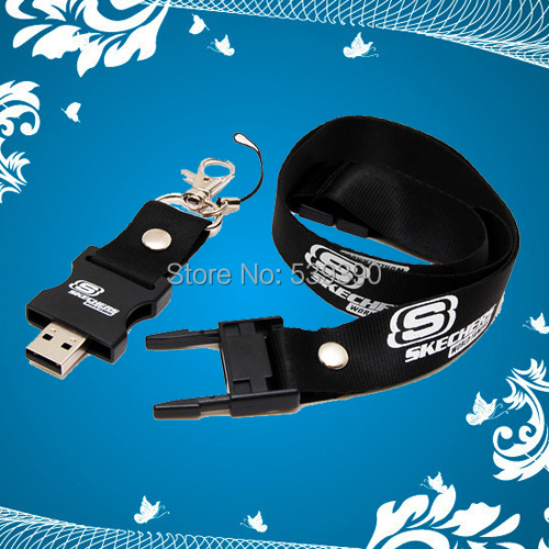 50pcs/lot Lanyard USB Flash Drive with Your Customized Logo for Company Promotional Free Shipping+Drop shipping(China (Mainland))